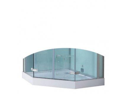 59081 eago sprchova vanicka akrylat cvrtkruh 120cm dz993