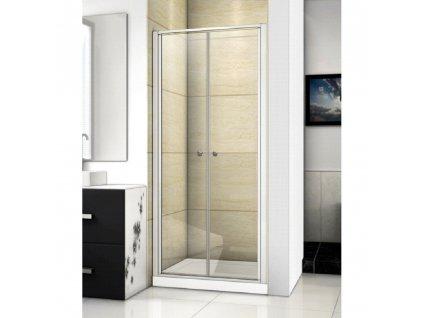 Aquatek Family B02 70, sprchové dveře, šířka 70cm, otevírací dvoukřídlé (Farba skla Sklo číre)