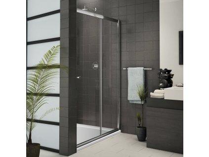 Aquatek Family B2 115, sprchové dveře, šířka 115cm, posuvné (Farba skla Sklo grape)