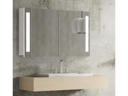 59270 hapa design venedig zrcadlova skrinka 100cm bila s led osvetlenim