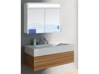 59285 hapa design miami zrcadlova skrinka 80cm bila s led osvetlenim