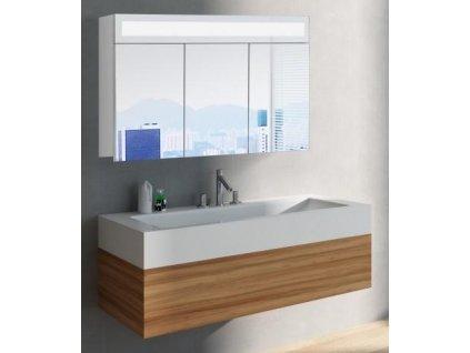 59288 hapa design miami zrcadlova skrinka 100cm bila s led osvetlenim