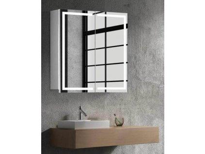 59294 hapa design milano zrcadlova skrinka 60cm bila s led osvetlenim
