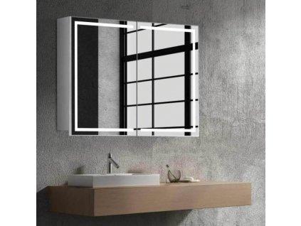 59297 hapa design milano zrcadlova skrinka 80cm bila s led osvetlenim