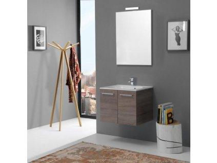 59807 kvstore boston koupelnovy nabytek 60cm s dvirky dub lanyz