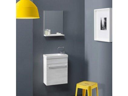 59831 kvstore smart levny koupelnovy nabytek do male koupelny 42cm bily dub