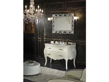 59858 kvstore baroko koupelnovy nabytek lipari bily 115 5x198x57 cm