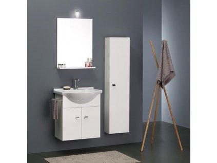 59900 kvstore koupelnovy nabytek usporna sestava s vysokou skrinkou 89cm bila