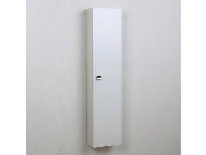 59903 kvstore simply koupelnova skrinka vysoka zavesna bila leskla 31x136x16 cm