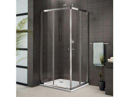 Aquatek Family R4, obdélníkový sprchový kout, 90x70cm, posuvné dveře (Farba skla Sklo číre)