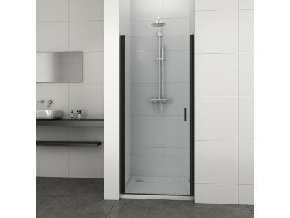 60212 1 sanotechnik soho elite black sprchove dvere sirka 80cm oteviraci nastenny profil