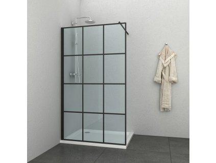 60251 sanotechnik soho elite black sprchova zastena walk in sirka 90cm