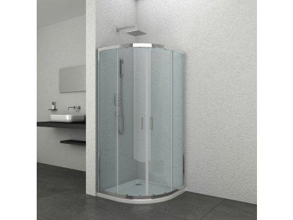 60290 1 sanotechnik soho elite chrome ctvrtkruhovy sprchovy kout sirka 90cm posuvne dvere
