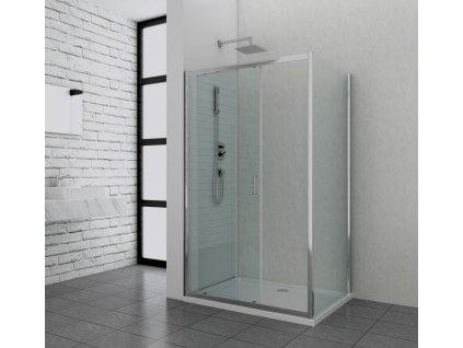60308 1 sanotechnik soho elite chrome obdelnikovy sprchovy kout 100x80cm posuvne dvere fix