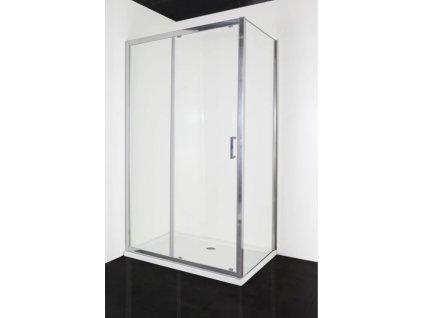 SC100&SC120 + F80&F90 Sanotechnik SOHO Elite Chrome, obdĺžnikový sprchový kút, soft close system, šírka 80 90x100 120cm, posuvne dvere