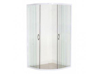 60326 sanotechnik ctvrtkruhovy sprchovy kout sirka 90cm posuvne dvere