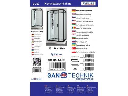 CL52 Sanotechnik QuickLine sprchový box obdĺžnik 80x120x235cm 02 low