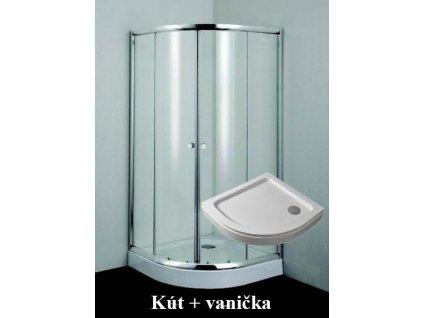 B2690C P29W Sanotechnik Simply Flex štvrťkruhový sprchový kút, šírka 90cm, posuvné dvere + akrylátová vanička