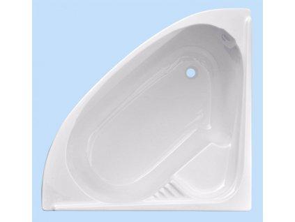 Sanotechnik Firenze rohová akrylátová vana 130x130cm (Čelní panel S čelním panelem)