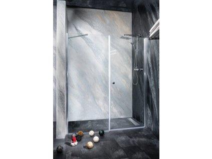 Sanotechnik Sanoflex Brava+Young sprchová zástěna, otvíravé dveře + fix, šířka 140-220cm (Rozmer 90cm, Spůsob otevírání fixní sklo)