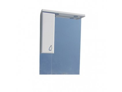 51359 sanotechnik sanremo lux 75 zrkadlo 71 cm s halogenovym osvetlenim a jednou skrinkou