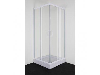 51650 sanotechnik stvorcovy sprchovy kut sirka 80cm posuvne dvere biely
