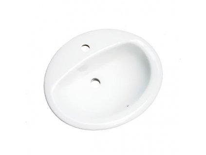 51836 Sanotechnik umyvadlo keramické na koupelnovou skřínku 53 5x43 5 cm