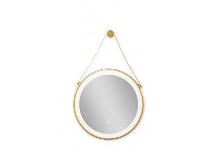 52247 sanotechnik soho zrkadlo okruhle s led osvetlenim 60x60 cm dizajnove zavesenie zlate