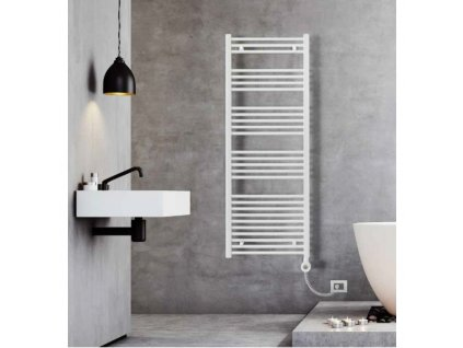Sanotechnik E-Bari elektrický radiátor do koupelny 900W, bílý, rovný