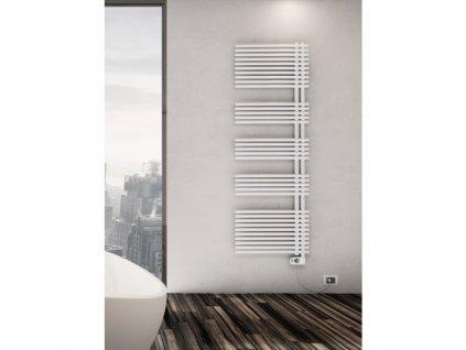 Sanotechnik E-Wien elektrický radiátor do koupelny 1000W, bílý, rovný