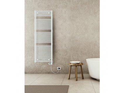 Sanotechnik E-Catania elektrický radiátor do koupelny 600W, bílý, rovný