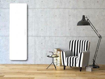 Sanotechnik E-Rom elektrický radiátor do koupelny designový 700W, bílý, rovný
