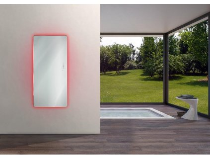 Sanotechnik E-Rom elektrický radiátor do koupelny designový 700W, zrcadlový, rovný
