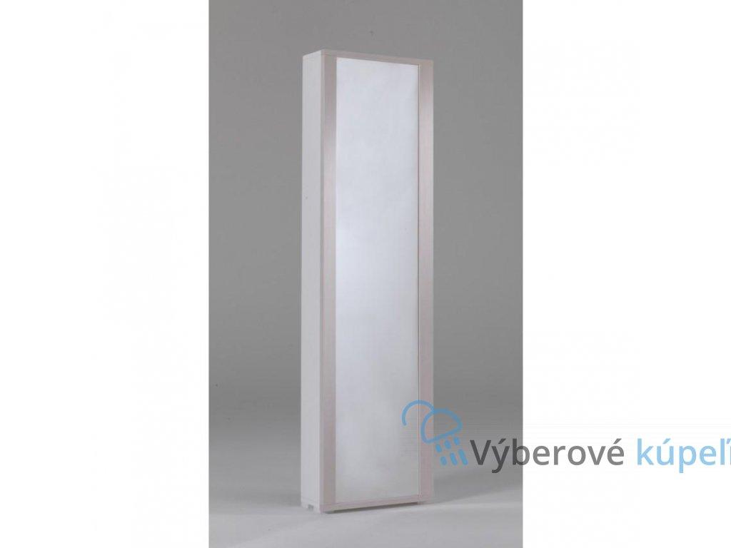 11243 kvstore milleusi vysoka skrinka zrkadlove dvierka 50x182x31 cm ram smrek