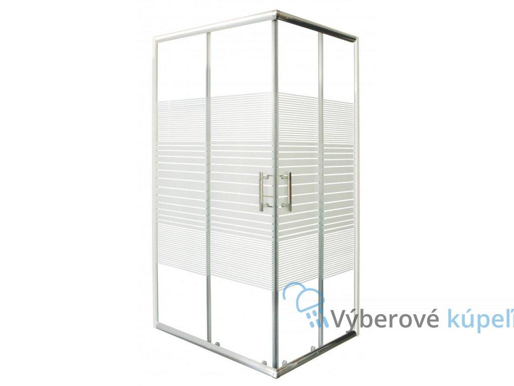 12440 sanotechnik obdlznikovy sprchovy kut 100x80cm posuvne dvere