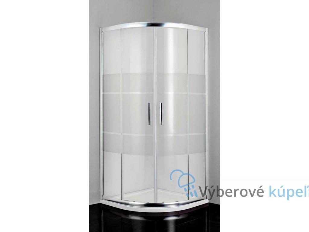 12458 sanotechnik pro line stvrtkruhovy sprchovy kut sirka 80cm posuvne dvere