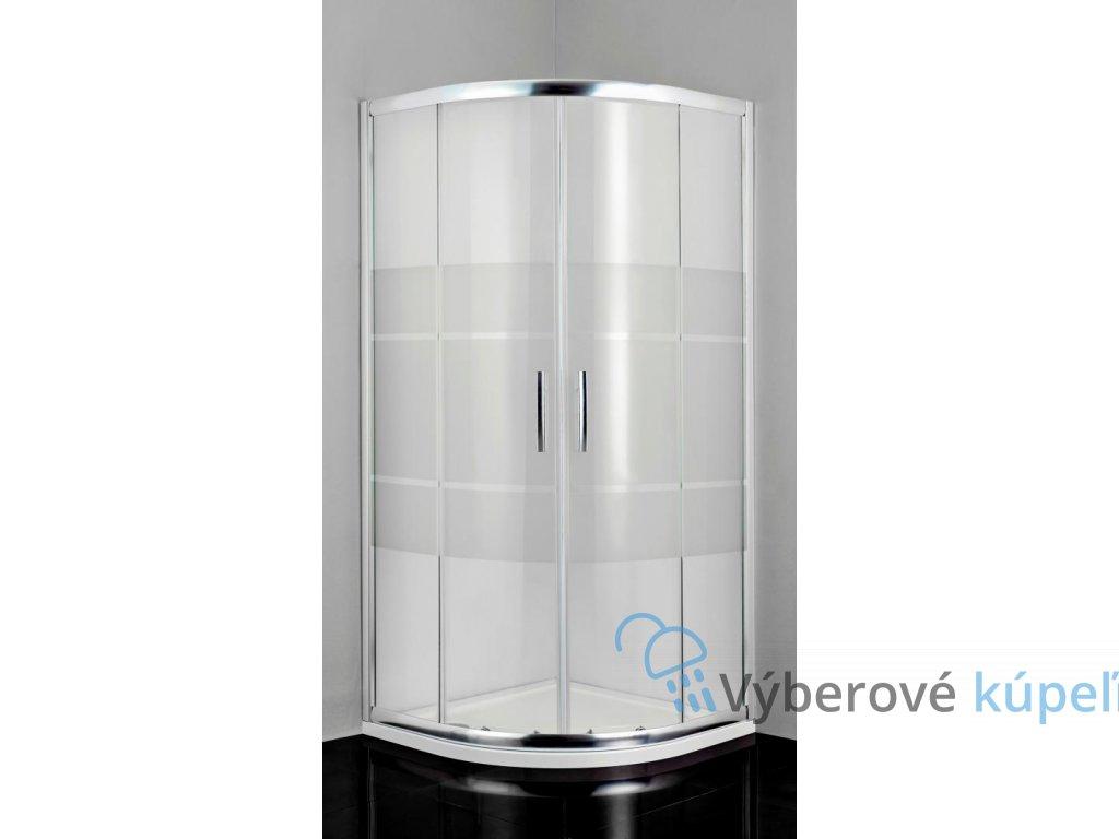 12461 sanotechnik pro line stvrtkruhovy sprchovy kut sirka 90cm posuvne dvere