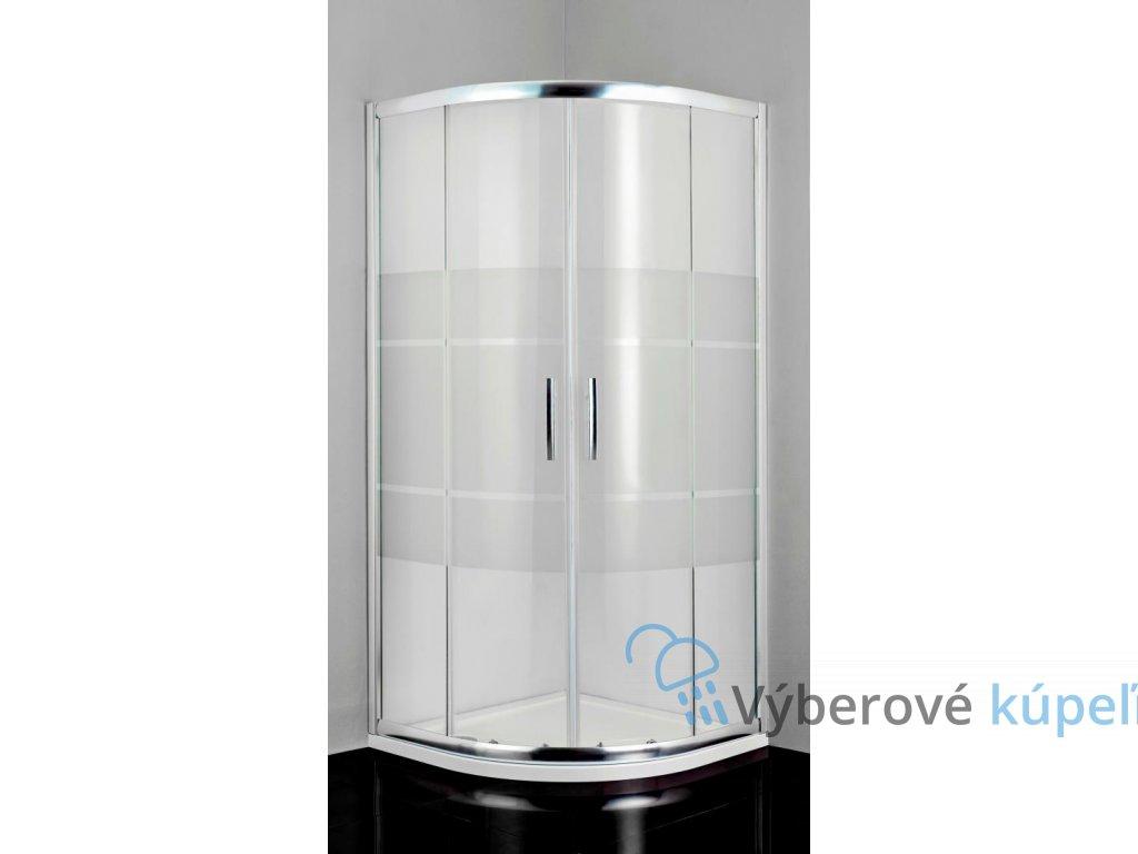 12464 sanotechnik pro line stvrtkruhovy sprchovy kut sirka 100cm posuvne dvere