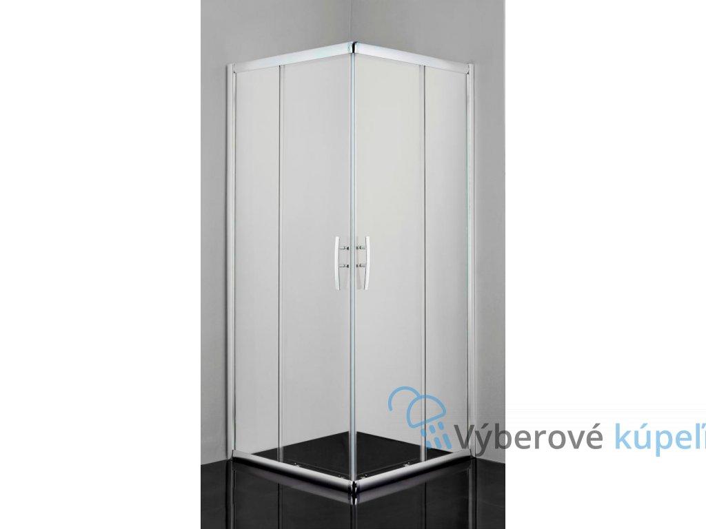 12476 sanotechnik pro line stvorcovy sprchovy kut sirka 80cm posuvne dvere