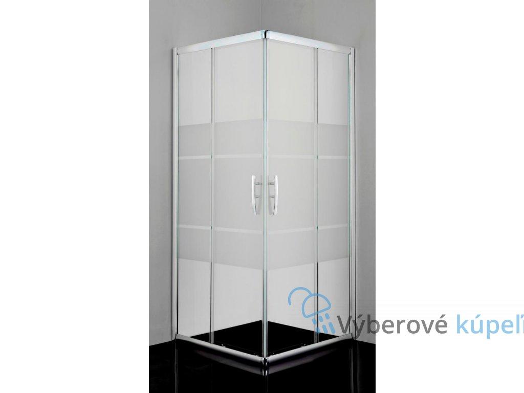 12497 sanotechnik pro line stvorcovy sprchovy kut sirka 100cm posuvne dvere