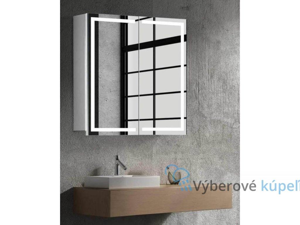 15005 hapa design milano zrkadlova skrinka 60cm biela s led osvetlenim