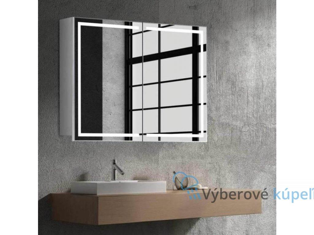 15008 hapa design milano zrkadlova skrinka 80cm biela s led osvetlenim