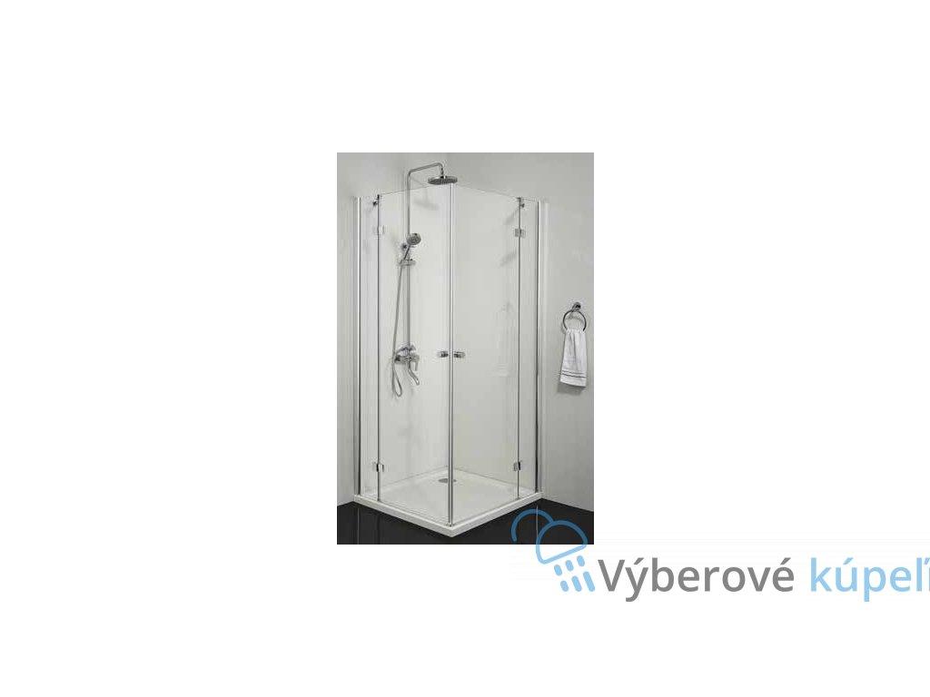 2375 sanotechnik smartflex stvorcovy sprchovy kut sirka 80cm otvarave dvere cire sklo d1280l d1281r