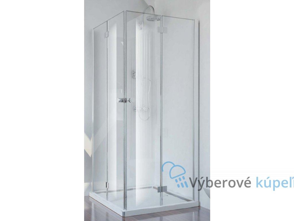 2384 sanotechnik smartflex stvorcovy sprchovy kut sirka 80cm zalamovacie dvere cire sklo d1280fl d1281fr