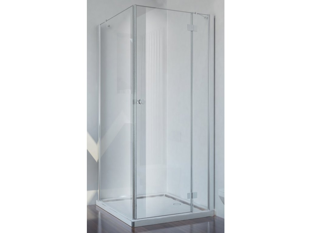 Sanotechnik Smartflex štvorcový sprchový kút, šírka 90cm, otváravé dvere + pevná časť, číre sklo, D1190+D1291R/L (Umiestnenie dverí Pravé dvere)