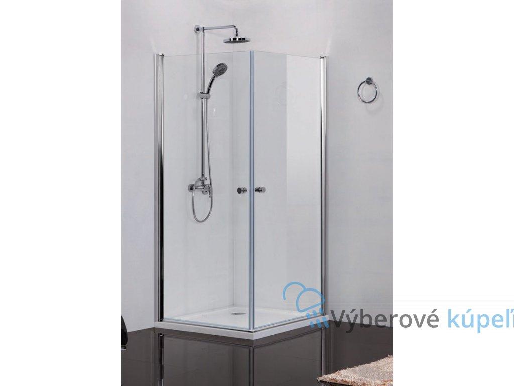 2414 sanotechnik elegance stvorcovy sprchovy kut sirka 90cm otvarave dvere cire sklo n1290