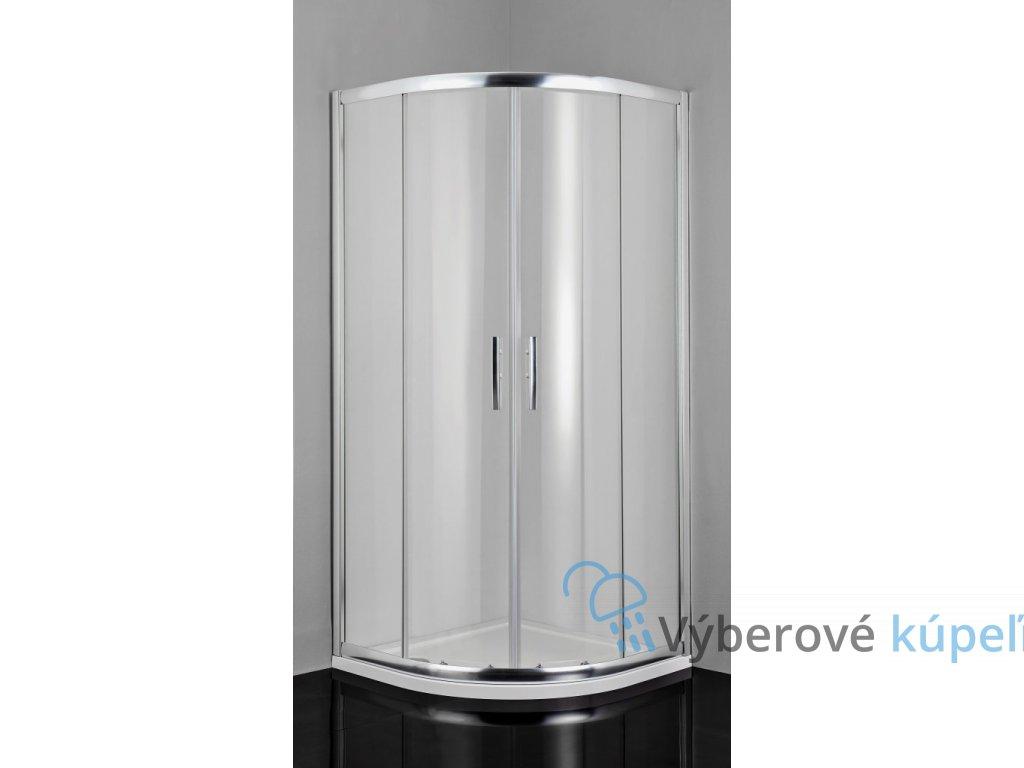 2438 sanotechnik pro line stvrtkruhovy sprchovy kut sirka 90cm posuvne dvere cire sklo b9090c