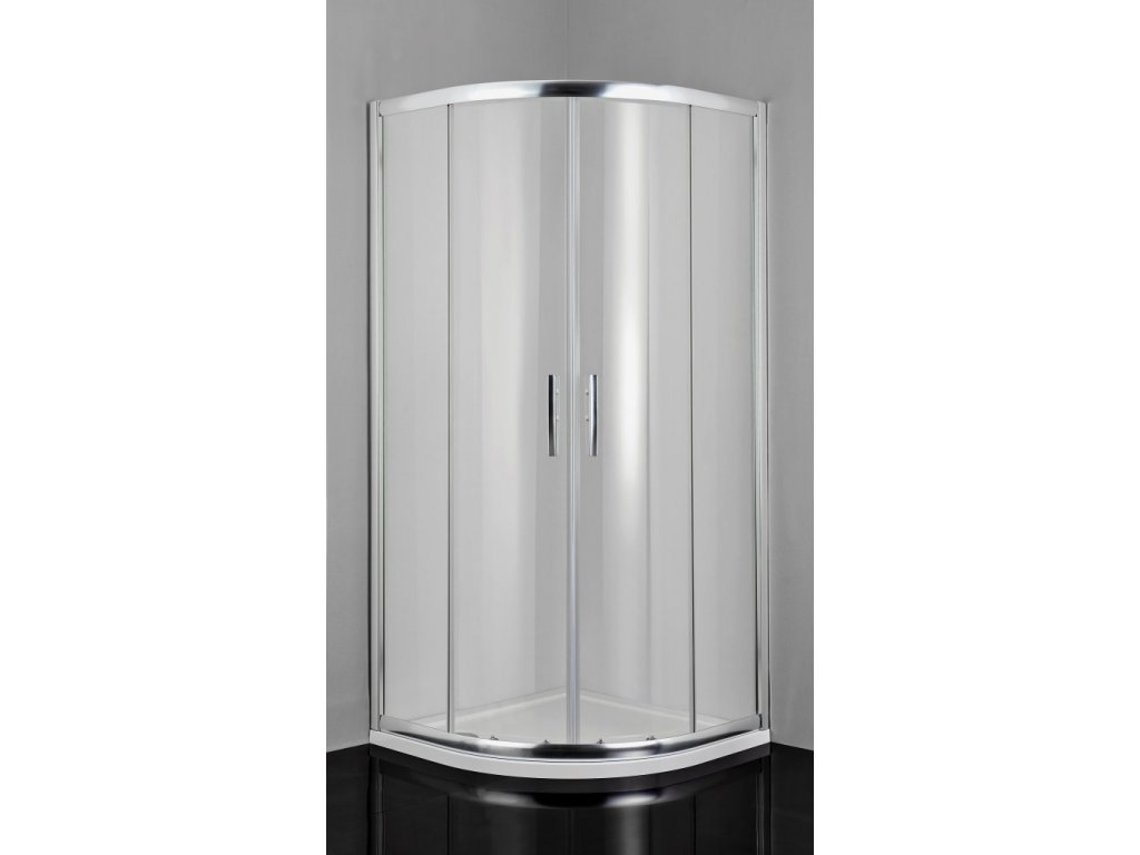 2441 sanotechnik pro line stvrtkruhovy sprchovy kut sirka 100cm posuvne dvere cire sklo b1010c