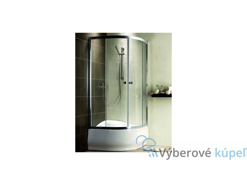 2471 radaway premium plus a1700 stvrtkruhovy sprchovy kut s hlbokou vanickou sirka 80cm posuvne dvere cire sklo 30411 01 01n 4s88400 03