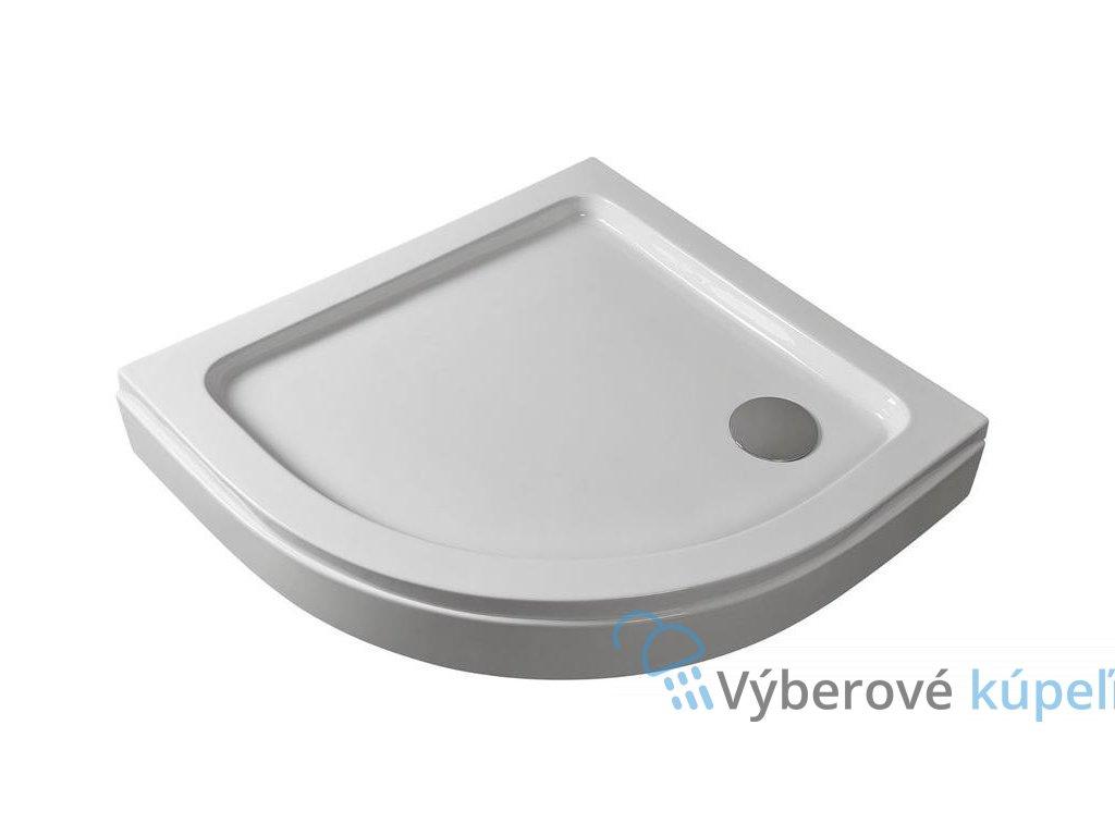 2573 sanotechnik sprchova vanicka akrylat stvrtkruh 90cm so sifonom p29w